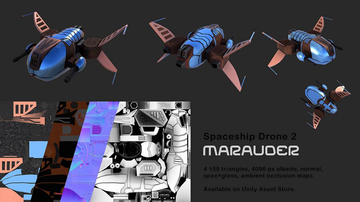 Spaceship Drone Marauder by Berandas