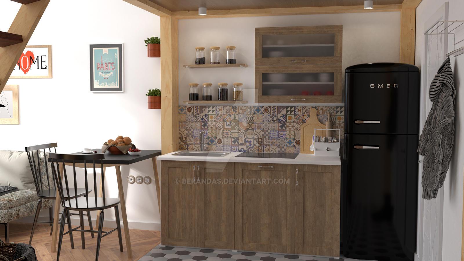 Kitchen Interior Design Preview by Berandas