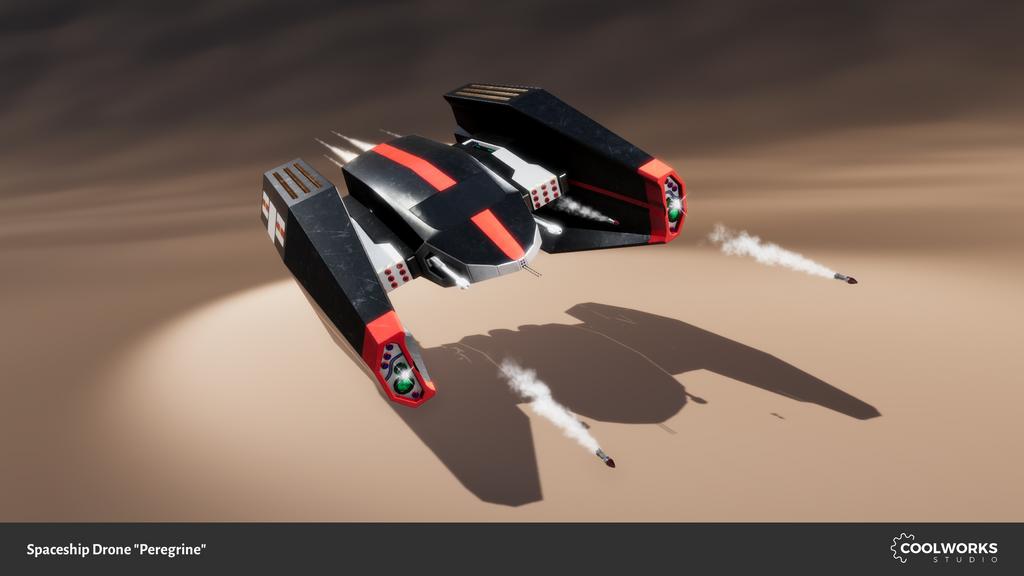 Spaceship Drone Peregrine by Berandas