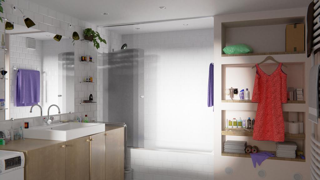 Bathroom Interior by Berandas