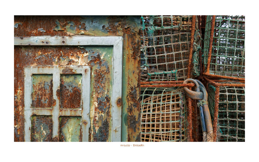 catching up with colorful rust and knots