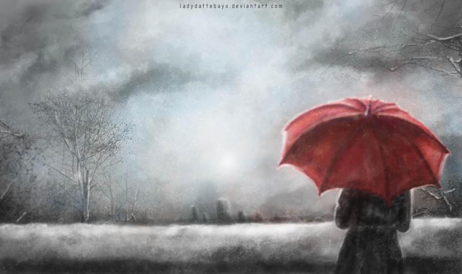 Winter umbrella by LadyDattebayo