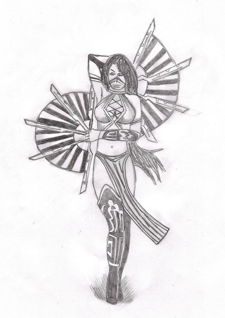 Mortal Kombat Jade Drawing