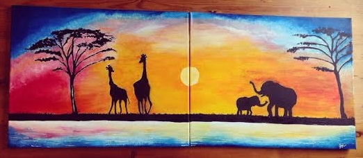 Africa Sunset by LifesaDoodle