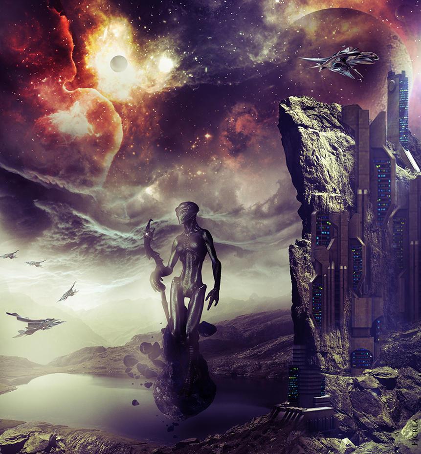 SPACE ECHOES II by EBENEWOOD