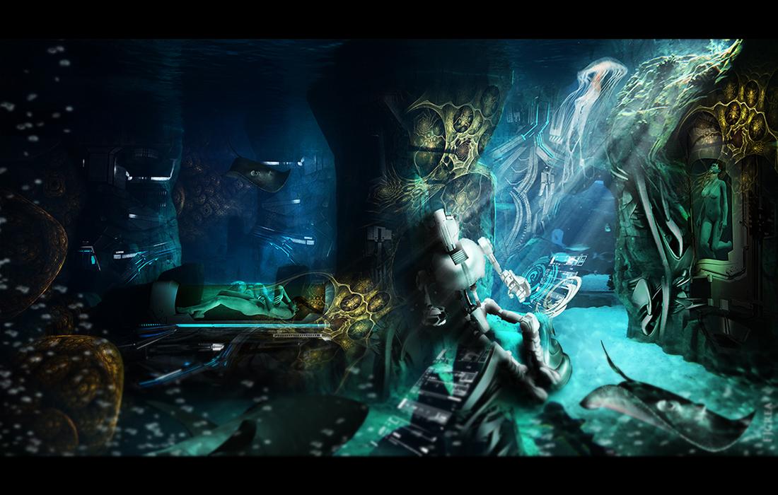 Underwater II by EBENEWOOD