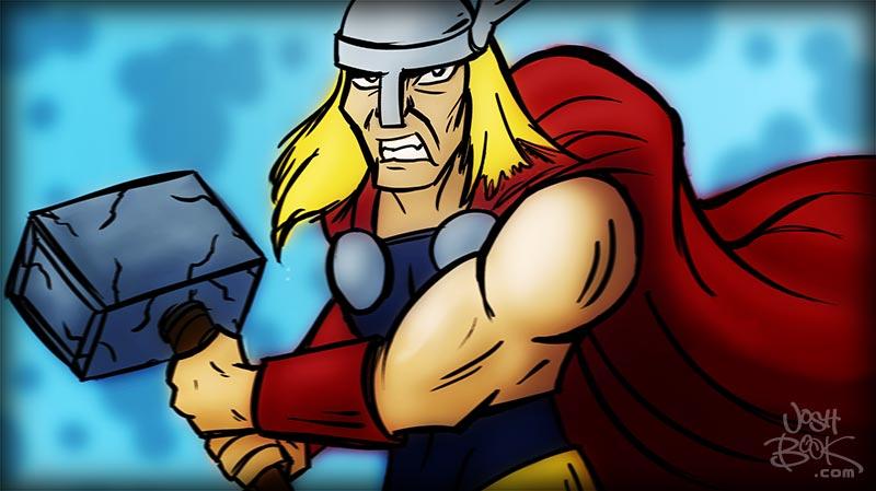 Thor sketch by JoshBook