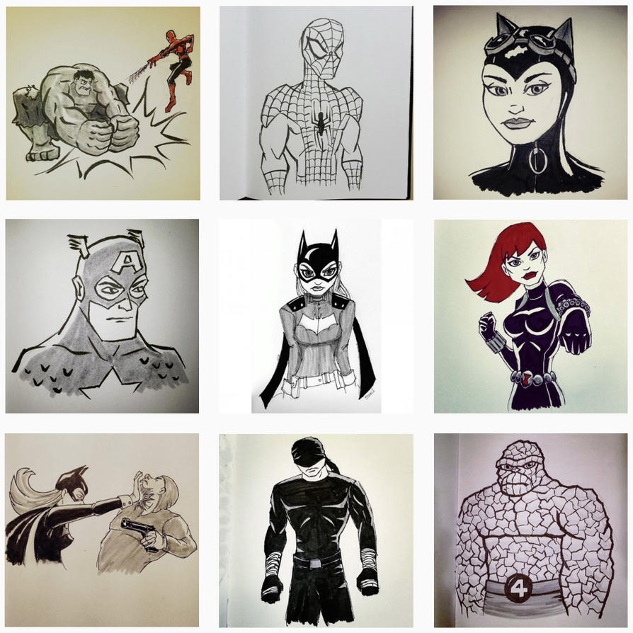 Inktober sketches by JoshBook