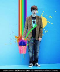 color splatter bucket