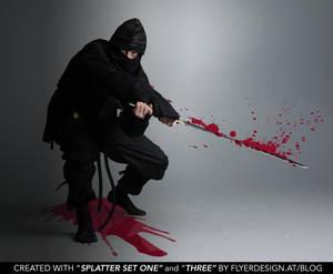 ninja blood splatter