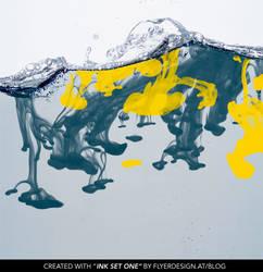 water ink splash