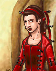 Red dress by nastenka
