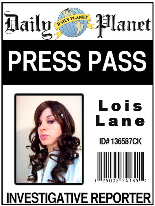 image about Lois Lane Press Pass Printable named Lois Lane Drive P
