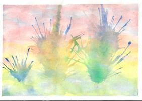 Watercolour study 01 by Pinkagony