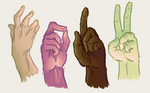 Hand studies by Pinkagony