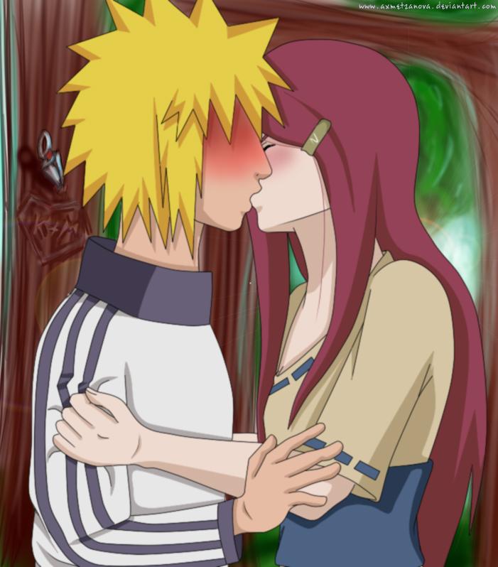 Minato and Kushina:First kiss by ~Axmetzanova on deviantART