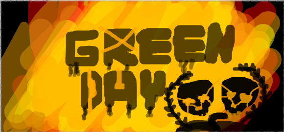 Green Day logo: Twitdraw by PoisonHeart555