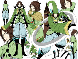 Sketch Mouri Motonari by Marionette-Virus