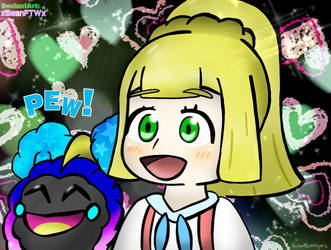 Lillie and Cosmog Chibi by xSeanFTWx