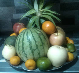 Noche Buena fruit tray