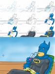 Train Doodle 08-06-2012 - Batman on Vacation