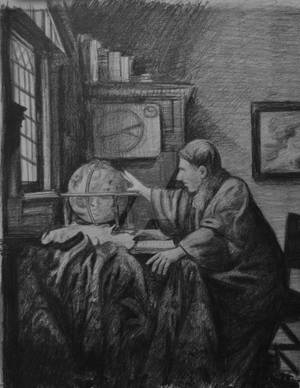 The Astronomer - Vermeer Copy