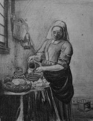 The Milkmaid - Vermeer Copy