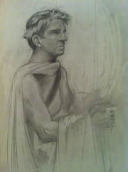 Lifedrawing at Panza Gallery - Caesar