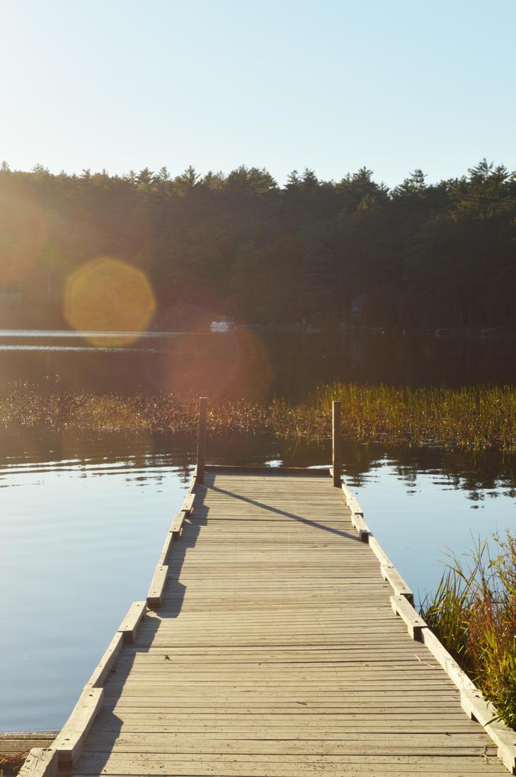 Dock at Echo Lake by WickedOffKiltah