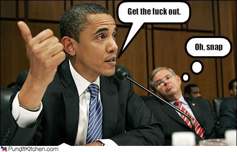 obama not be mean by NyaNya123