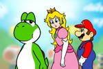 Yoshi Peach Mario Totally Not A Meme