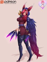 Xayah from League of Legends by LawZilla