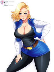 Android 18 by LawZilla
