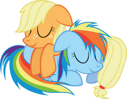 (Request) RD and AJ Fillies sleeping by Pasuri98
