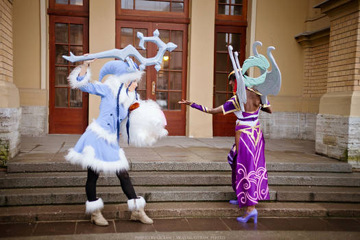 Support vs support (Lulu and Karma cosplay)