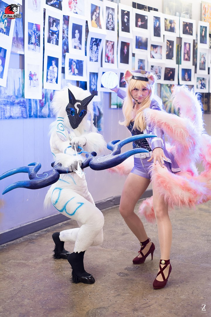 Kindred and Ahri by Nyandalee