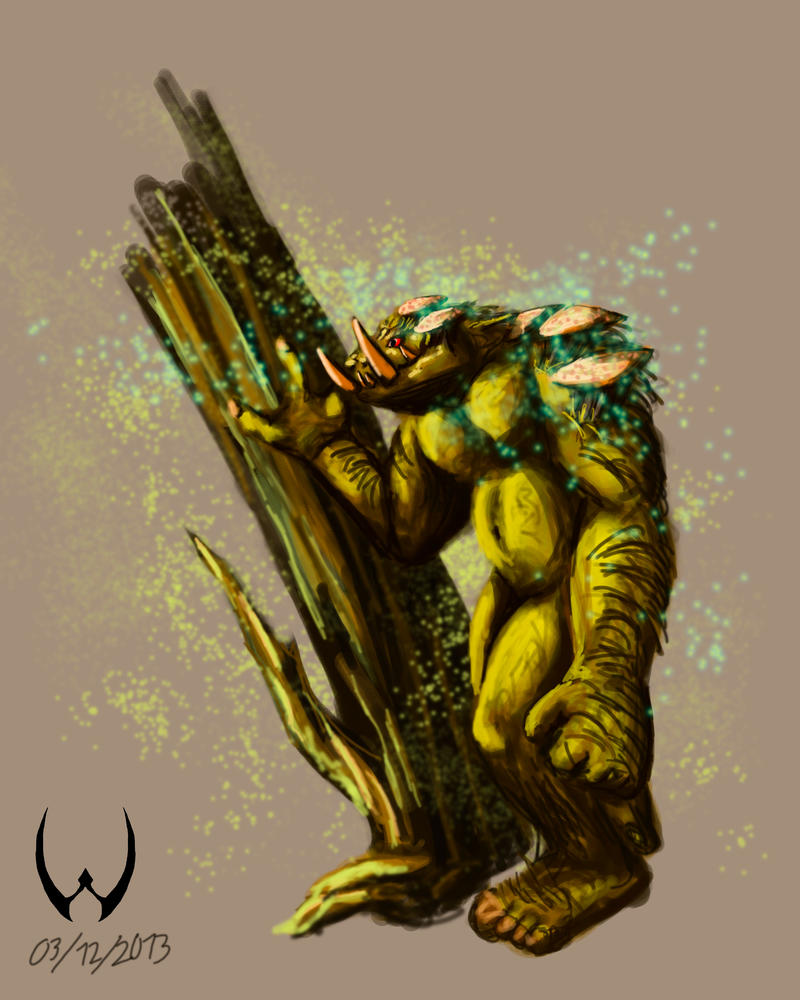 Wood Ogre by LordDracoArgentos