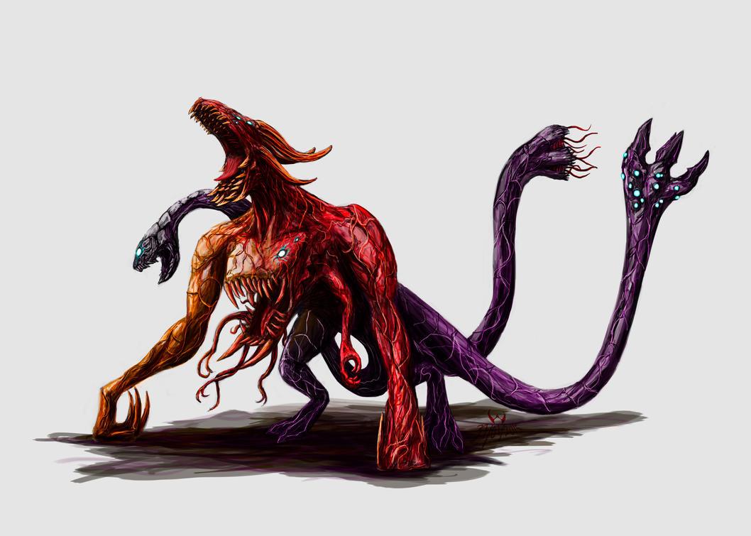 Kaijmu Chimera by LordDracoArgentos