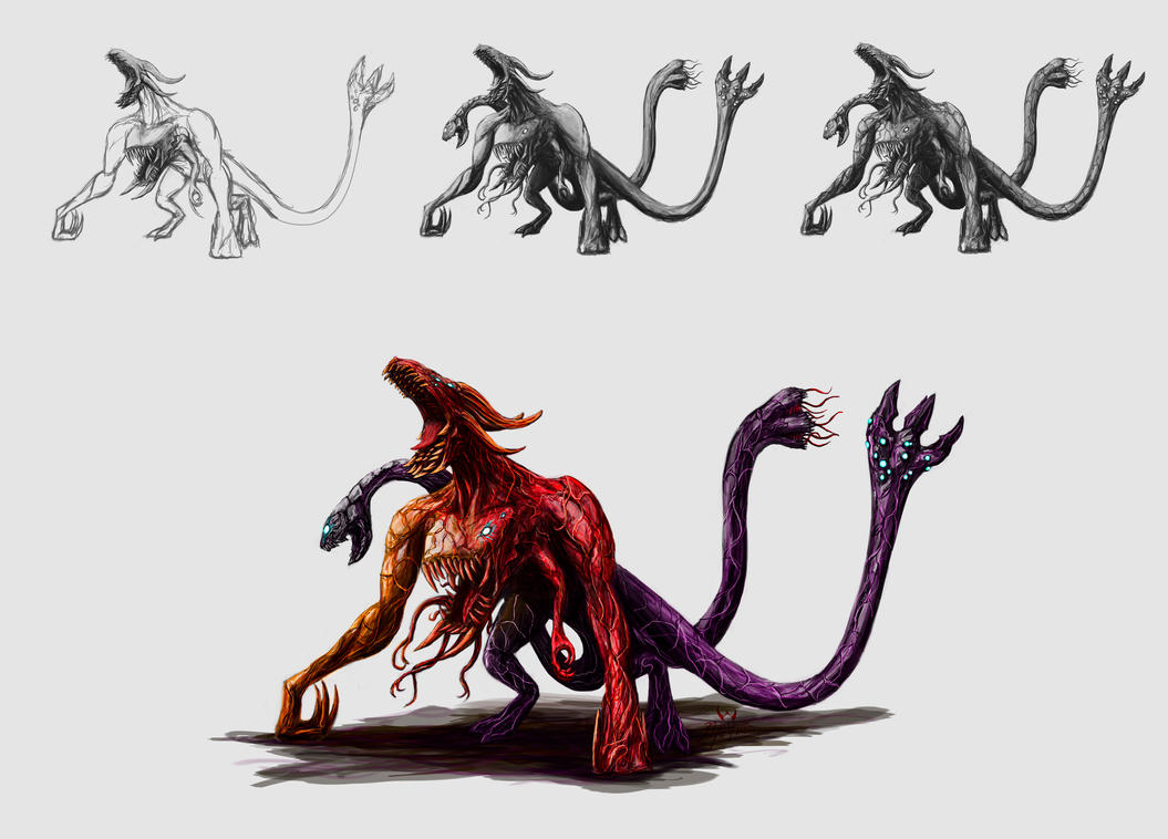 Kaiju Chimera step by LordDracoArgentos