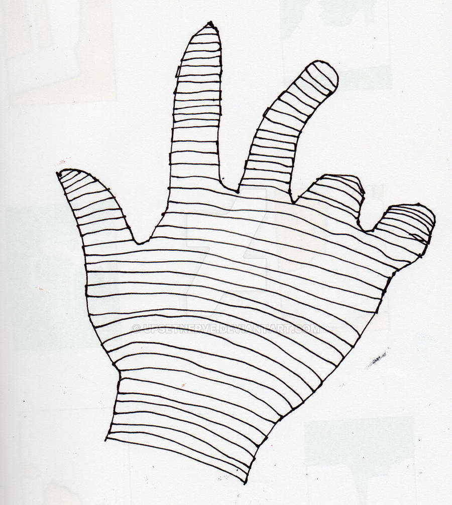 Cross-Contour Hand by UpsetNerve on DeviantArt