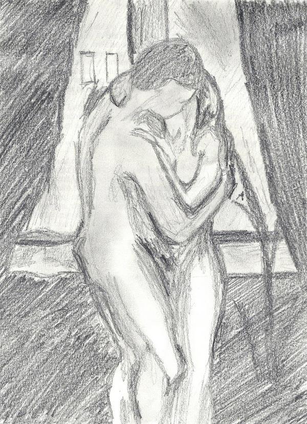 Edvard Munchs The Kiss by Forsakened-Dark-RoSe