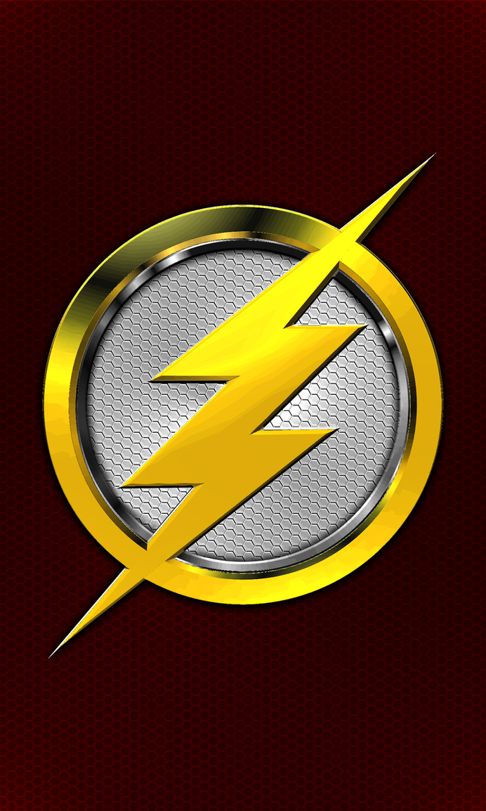 The Flash 3D Chestplate Emblem For Android Wall 04 by KingTracy on ...