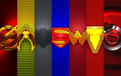 3D Heroic Justice League Super 7 Chest Plates 00 by KingTracy