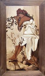 Inlay Alfons Mucha - Summer