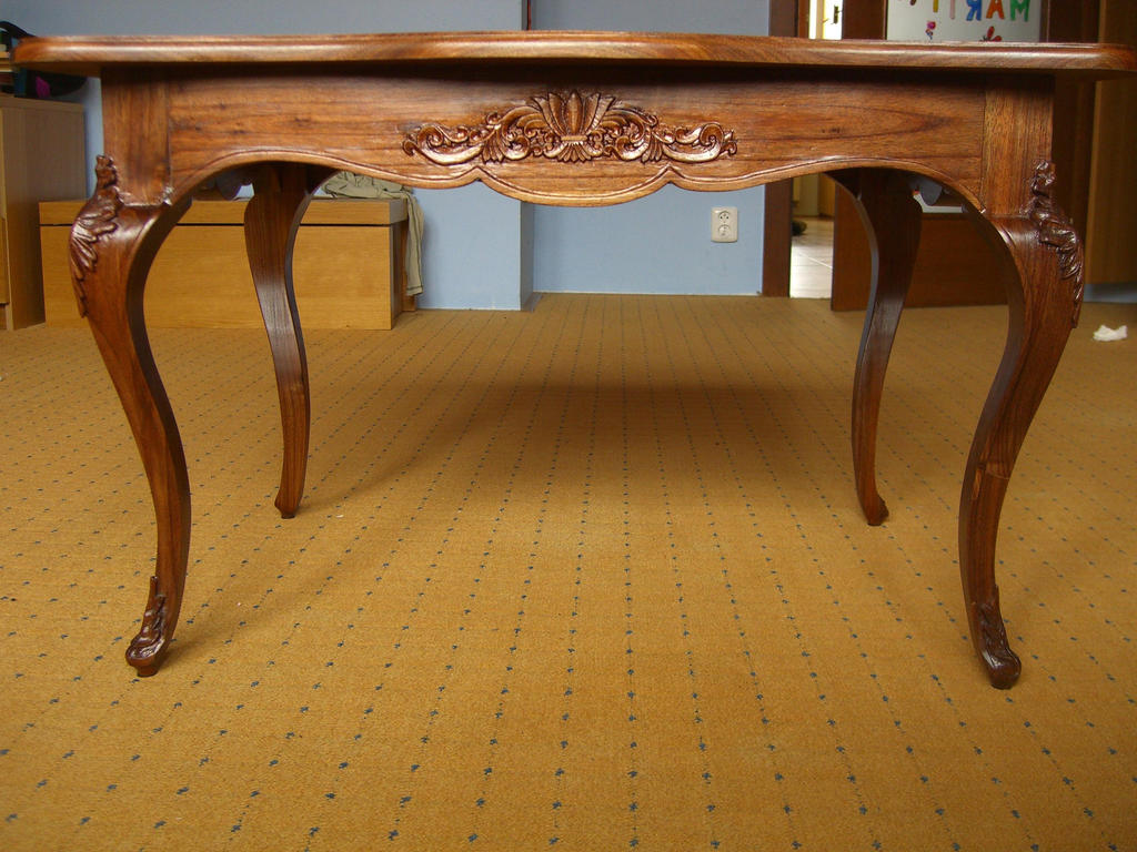 Table louis xv 7 front view by bengo matus on deviantart - Table de chevet louis xv ...