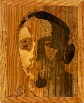 Intarsia autoportret