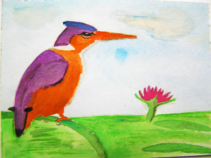 Malachite Kingfisher by Halycon-Thanatos