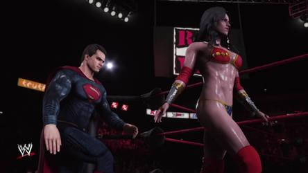 Wonder Woman and Superman - Pro Wrestling Entrance