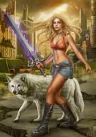 The Wolf's Sword by dark-spider