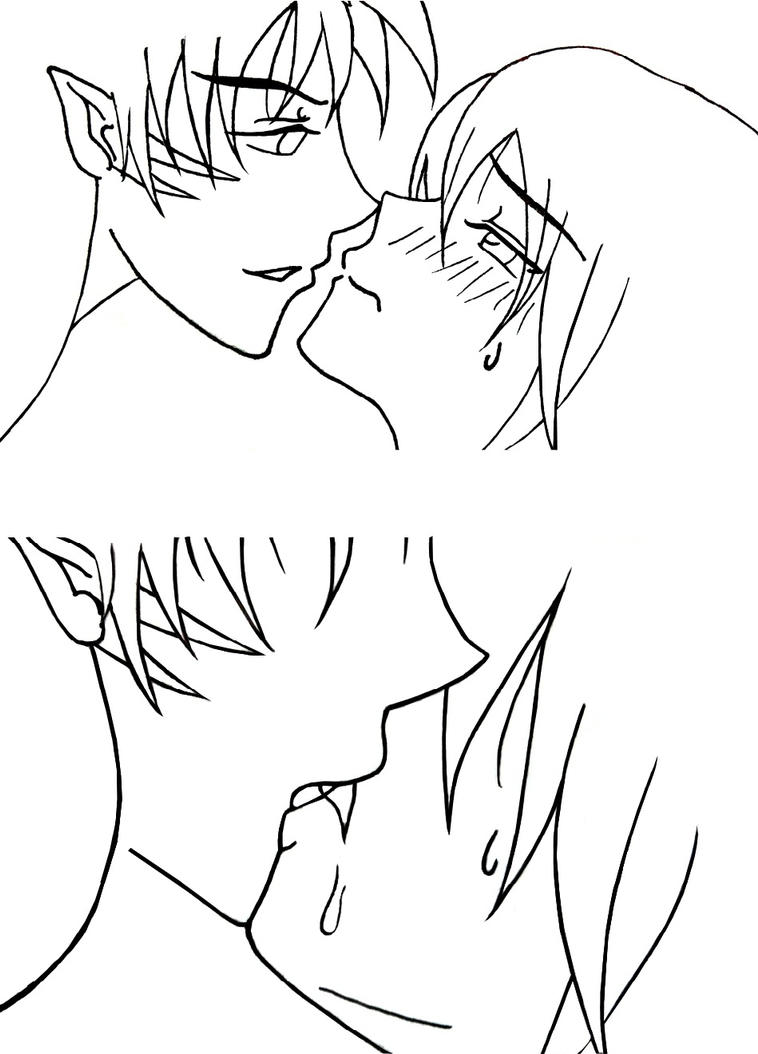 Uncategorized How To Draw Anime Kiss sss kiss scene by misskatt18 on deviantart misskatt18